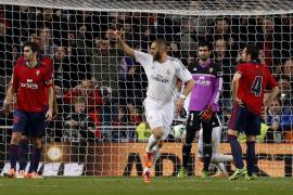 El Madrid, más cerca de cuartos tras vencer al Osasuna (2-0)