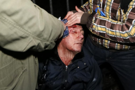 Un exministro y varios diputados, heridos en los últimos choques en Kiev