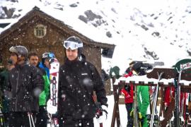 El Príncipe de Asturias disfruta del esquí en Formigal