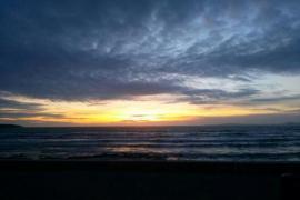 puesta de sol impresionante