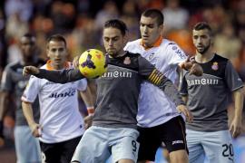 El Valencia de Pizzi no puede más que empatar ante Espanyol de Aguirre