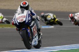 Lorenzo, tercero detrás de Rossi y Stoner en Le Mans