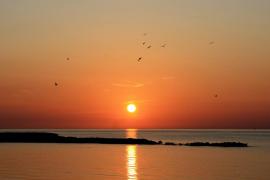 El Sol s'amaga baixa la costa
