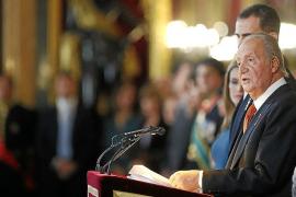 El Rey afirma que «hay motivos para el optimismo» pese al «grave» paro