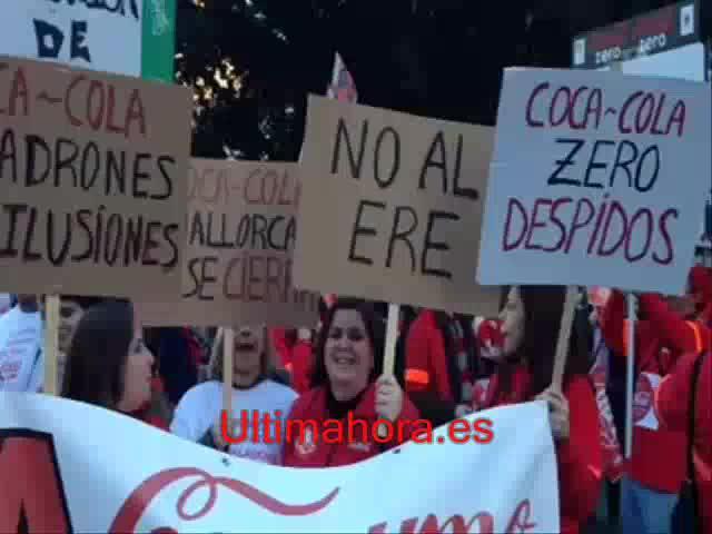 Lucha contra el cierre de Coca-Cola