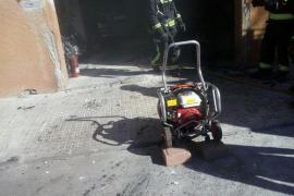 Incendio en un taller de Manacor y en un contenedor de Deià