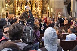 El obispo Salinas denuncia a los asaltantes proabortistas de la iglesia de Sant Miquel