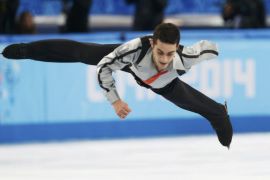 Spain's Javier Fernandez competes during the Figure Skating Men's Free Skating Program at the Sochi 2014 Winter Olympics