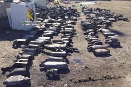 Dos detenidos por el robo de 300 catalizadores  a los que extraían el platino, rodio y paladio que los componen