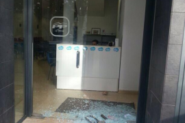 Acto vandálico contra la sede del PP en Inca