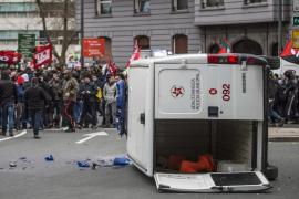 Vandalismo en Bilbao en protesta por el foro económico