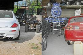 Cientos de vehículos fueron sustraídos y manipulados por la banda detenida en Palma
