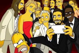 El selfie de los Oscar se 'simpsoniza'