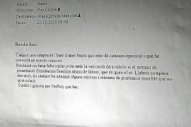 Un 'email' desvela que el subjefe de la Policía Local de Inca intentó amañar su plaza