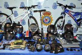 Otros ocho detenidos por robar en numerosos trasteros y garajes de Palma