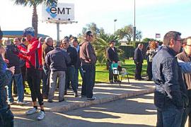 La EMT hará huelgas de 24 horas si esta semana no hay acuerdo