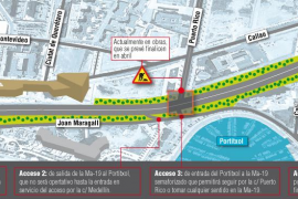 Nuevo acceso al Portitxol con semáforo desde la autovía de Llevant