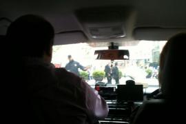 Más de 400 taxis colapsan Palma para protestar contra el sistema de turnos
