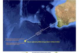 Un satélite tailandés detecta 300 objetos a 200 km de la búsqueda del avión