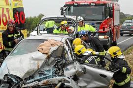 Accidente mortal en la carretera vieja de Sineu
