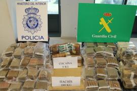 Ocho detenidos y más de 100 kilos de droga incautada en una operación en Mallorca