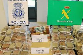 Policía y Guardia Civil incautan 100 kilos de hachís y seis de cocaína en el Port de Palma