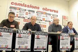 Los sindicatos llaman a protestar en contra de la austeridad y los recortes