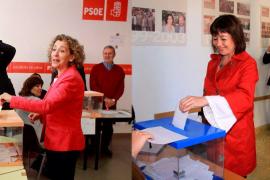 Con el 73 por ciento de los votos escrutados, Armengol aventaja a Calvo