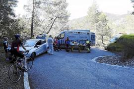 Un ciclista, herido en un accidente en la carretera Esporles-Puigpunyent