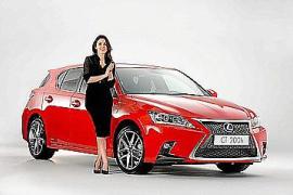 Adriana Ugarte, nueva embajadora del Lexus CT 200h Híbrido