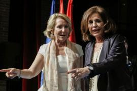 Aguirre y Botella ofrecen una imagen de cordialidad tras el incidente con los agentes