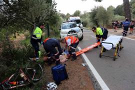 Dos ciclistas, ingresados en la UCI tras sufrir sendos accidentes en Palma y Alaró
