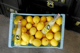 El diseño tanto de la etiqueta como del tapón le da a la botella de Pep Lemon un atractivo retro