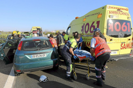 Un motorista de la Guardia Civil, herido en un accidente en Felanitx