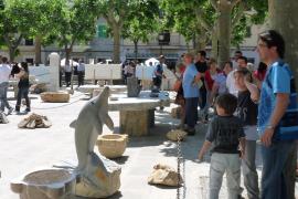 Las esculturas de piedra se erigieron en protagonistas.