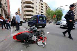 Un joven de 21 años, herido grave en un accidente en Palma