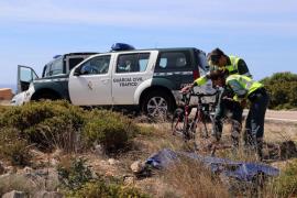 Un ciclista alemán de unos 60 años fallece en la carretera de es Cap Blanc