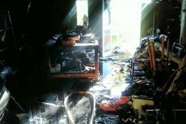 Un incendio calcina la despensa de una vivienda en Manacor