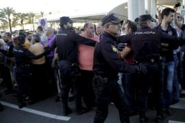 Protesta de taxistas en Son Sant Joan