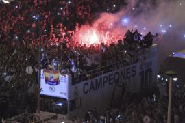 Celebración del Real Madrid por las calles de la Madrid
