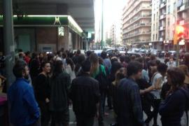 Las protestas okupa de Barcelona llegan a Palma y acaban con dos detenidos