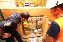 Desalojan un edificio de Palma por un gran escape de gas debido al robo de las tuberías