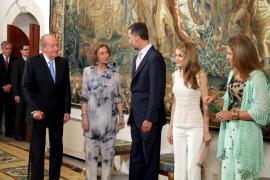 PALMA - CELEBRACION DE LA TRADICIONAL CENA DE VERANO DE LOS REYES EN EL PALACIO DE LA ALMUDAINA.