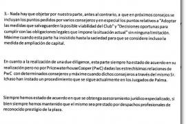 Serra se alinea con Claassen y pide a Cerdà que facilite información económica