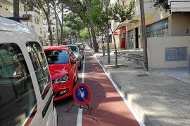 Discrepancias internas en el gobierno por el carril bici de la entrada a Cala Millor