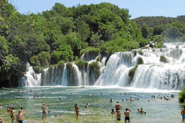 El Parque Nacional de Krka en Croacia