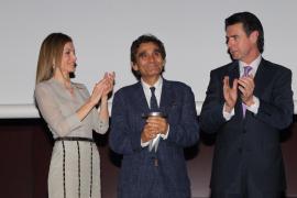 Letizia Ortiz, Adolfo Domínguez y Manuel Soria.
