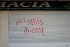 El PP balear denuncia pintadas injuriosas en la farmacia de Bauzá