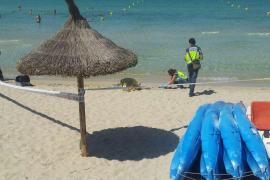 Hallado un cadáver flotando en aguas de la Platja de Palma