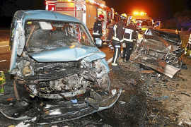Fallece uno de los heridos en la colisión frontal de la carretera de Alcúdia